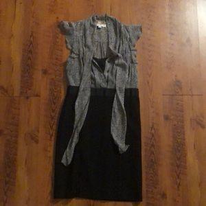 LOFT Dresses - Black and Gray Dress by LOFT